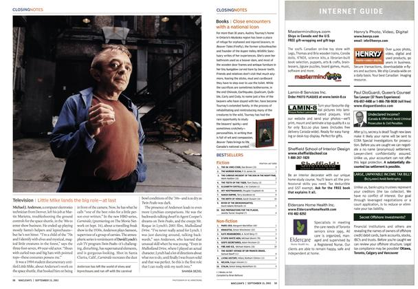 Article Preview: Television, September 2003 | Maclean's