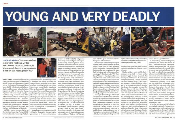 Article Preview: YOUNG AND VERY DEADLY, September 2003 | Maclean's