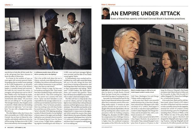Article Preview: AN EMPIRE UNDER ATTACK, September 2003 | Maclean's