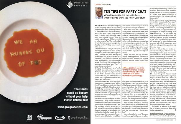 Article Preview: TEN TIPS FOR PARTY CHAT, September 2003 | Maclean's