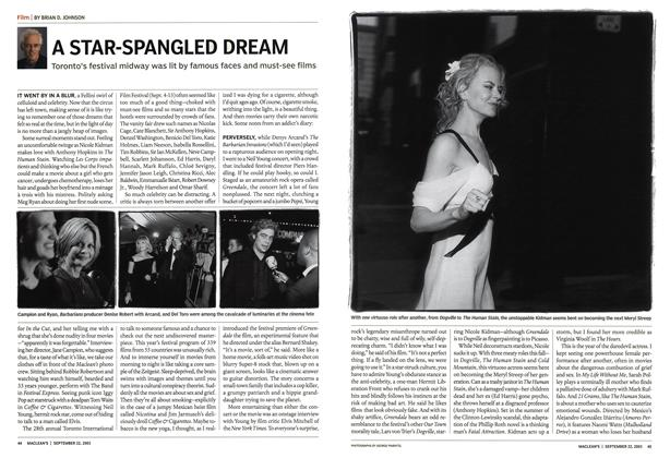 Article Preview: A STAR-SPANGLED DREAM, September 2003 | Maclean's