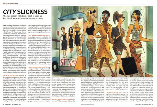 Article Preview: CITY SLICKNESS, September 2003 | Maclean's