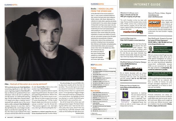 Article Preview: BESTSELLERS, September 2003 | Maclean's