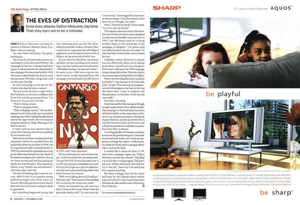 Article Preview: THE EVES OF DISTRACTION, September 2003 | Maclean's
