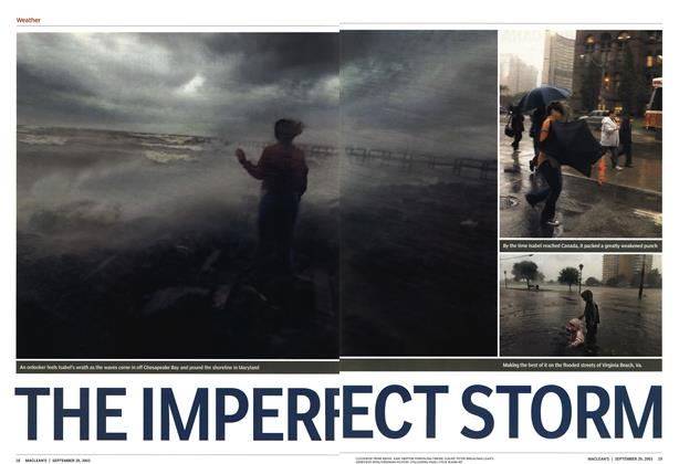 Article Preview: THE IMPERFECT STORM, September 2003 | Maclean's