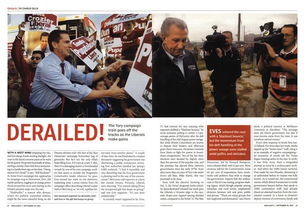 Article Preview: DERAILED!, September 2003 | Maclean's