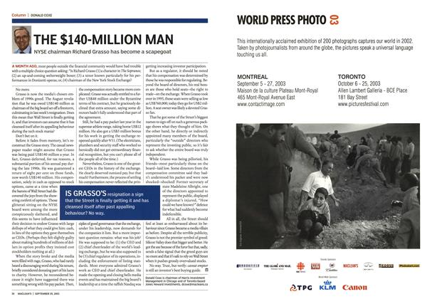 Article Preview: THE $140-MILLION MAN, September 2003 | Maclean's