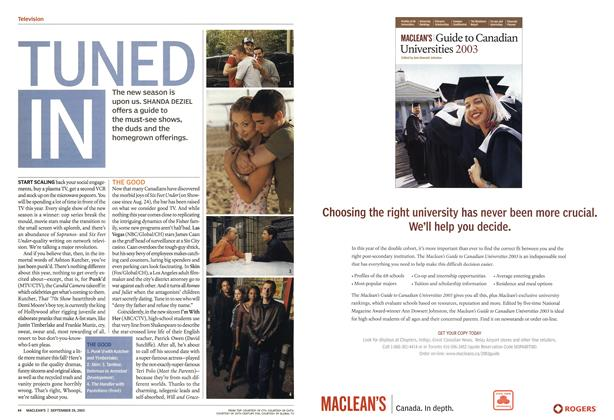 Article Preview: TUNED IN, September 2003 | Maclean's