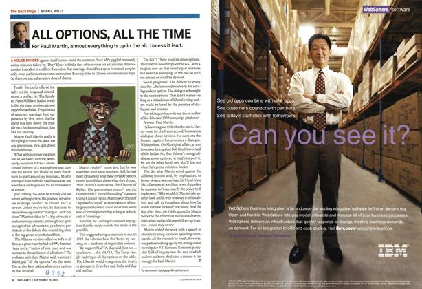 Article Preview: ALL OPTIONS, ALL THE TIME, September 2003 | Maclean's