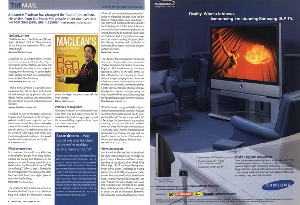 Article Preview: THE MAIL, September 2003   Maclean's