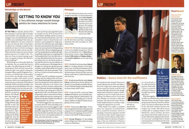 Article Preview: Politics, October 2003   Maclean's