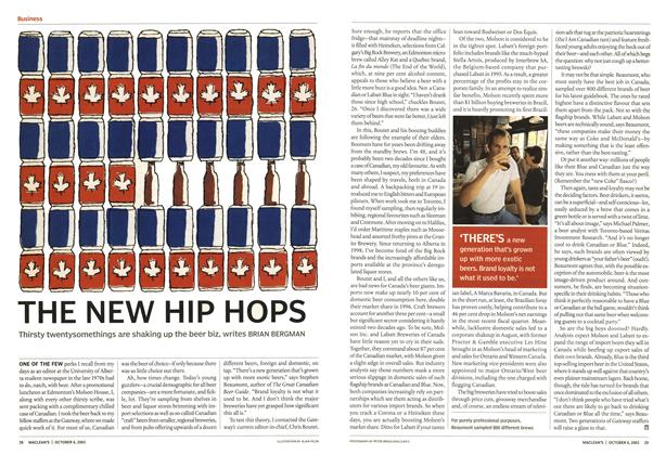 Article Preview: THE NEW HIP HOPS, October 2003 | Maclean's