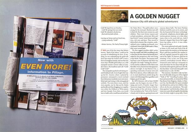 Article Preview: A GOLDEN NUGGET, October 2003 | Maclean's