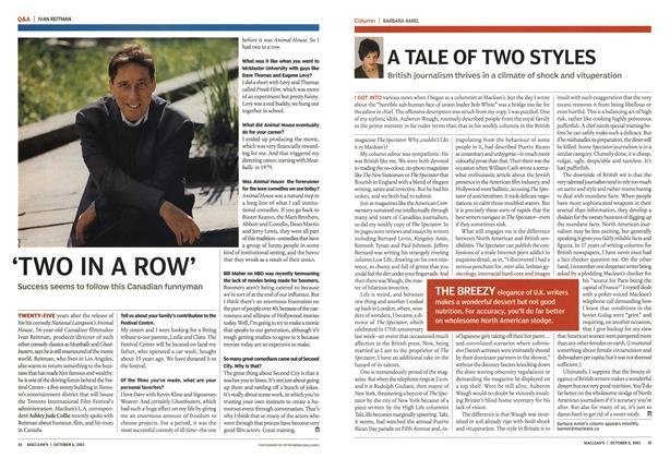 Article Preview: A TALE OF TWO STYLES, October 2003 | Maclean's