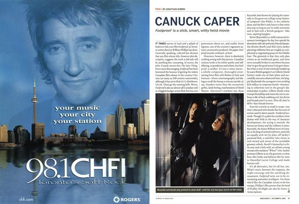 Article Preview: CANUCK CAPER, October 2003 | Maclean's