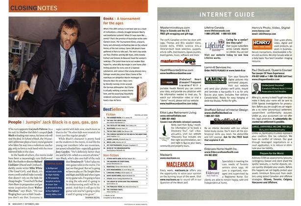 Article Preview: Best sellers, October 2003 | Maclean's