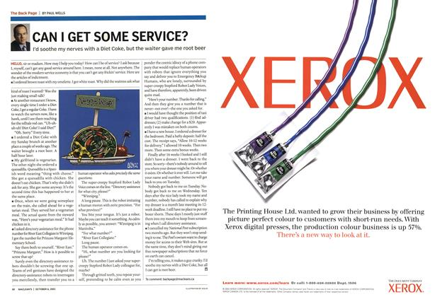 Article Preview: CAN I GET SOME SERVICE?, October 2003 | Maclean's
