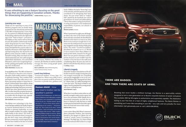 Article Preview: THE MAIL, October 2003 | Maclean's