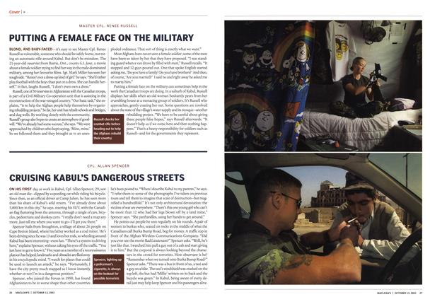 Article Preview: CRUISING KABUL'S DANGEROUS STREETS, October 2003 | Maclean's