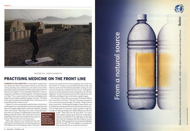 Article Preview: PRACTISING MEDICINE ON THE FRONT LINE, October 2003 | Maclean's