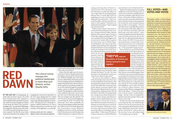 Article Preview: P.E.I. VOTES-AND VOTES AND VOTES, October 2003 | Maclean's