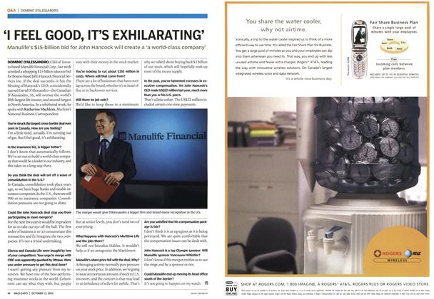 Article Preview: Advertisement, October 2003   Maclean's