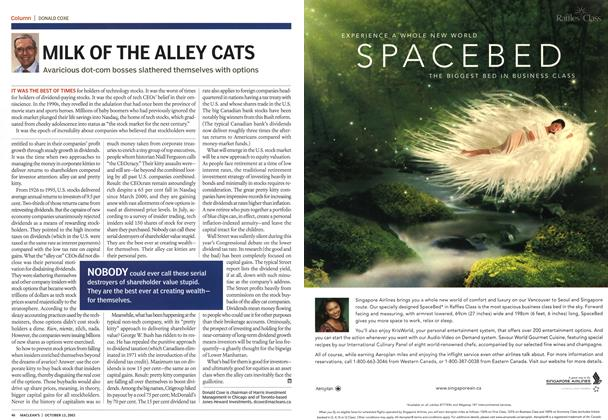 Article Preview: MILK OF THE ALLEY CATS, October 2003 | Maclean's