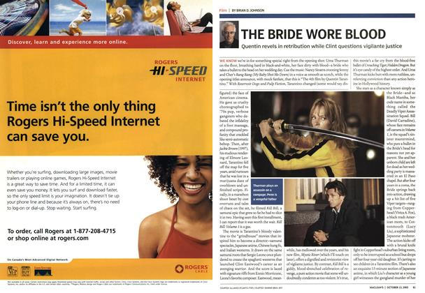 Article Preview: THE BRIDE WORE BLOOD, October 2003 | Maclean's
