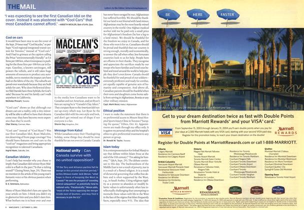 Article Preview: THE MAIL, October 2003   Maclean's