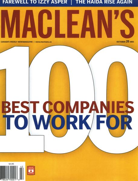 Issue: - October 2003   Maclean's