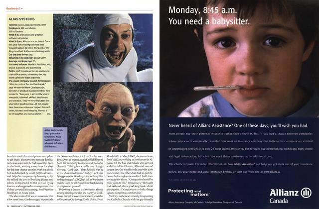 Article Preview: ALIAS SYSTEMS, October 2003 | Maclean's