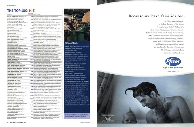Article Preview: CASCADES INC., October 2003 | Maclean's