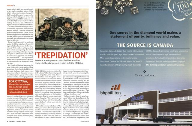 Article Preview: 'TREPIDATION', October 2003 | Maclean's