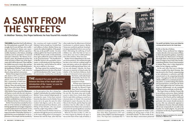 Article Preview: A SAINT FROM THE STREETS, October 2003 | Maclean's