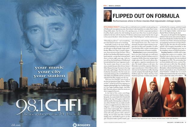 Article Preview: FLIPPED OUT ON FORMULA, October 2003 | Maclean's