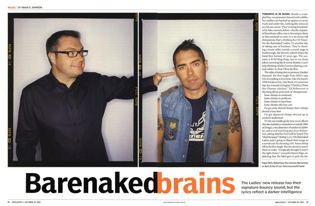 Article Preview: Barenaked brains, October 2003 | Maclean's