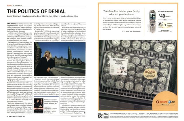 Article Preview: THE POLITICS OF DENIAL, October 2003 | Maclean's