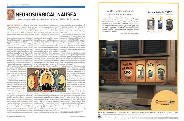 Article Preview: NEUROSURGICAL NAUSEA, October 2003 | Maclean's