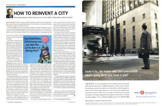 Article Preview: HOW TO REINVENT A CITY, October 2003 | Maclean's