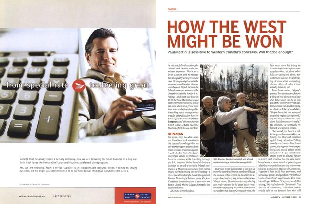 Article Preview: HOW THE WEST MIGHT BE WON, October 2003 | Maclean's