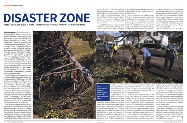 Article Preview: DISASTER ZONE, October 2003 | Maclean's