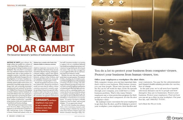 Article Preview: POLAR GAMBIT, October 2003 | Maclean's