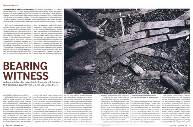 Article Preview: BEARING WITNESS, October 2003 | Maclean's
