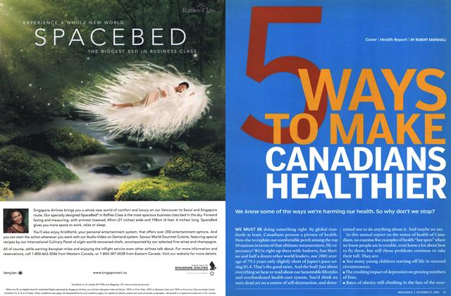 Article Preview: 5 WAYS TO MAKE CANADIANS HEALTHIER, October 2003 | Maclean's