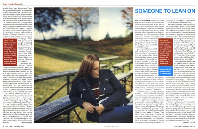 Article Preview: SOMEONE TO LEAN ON, October 2003 | Maclean's