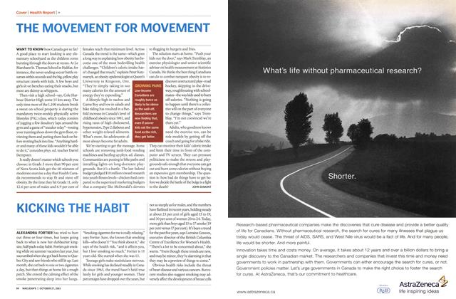 Article Preview: KICKING THE HABIT, October 2003 | Maclean's