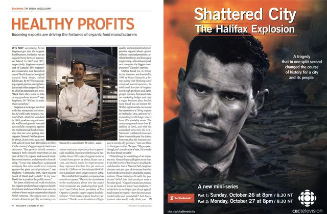 Article Preview: HEALTHY PROFITS, October 2003 | Maclean's