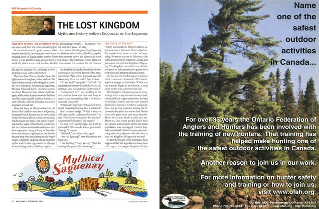 Article Preview: THE LOST KINGDOM, October 2003 | Maclean's