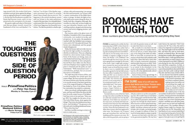 Article Preview: BOOMERS HAVE IT TOUGH, TOO, October 2003 | Maclean's