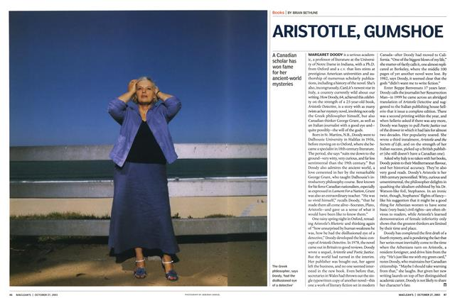 Article Preview: ARISTOTLE, GUMSHOE, October 2003 | Maclean's